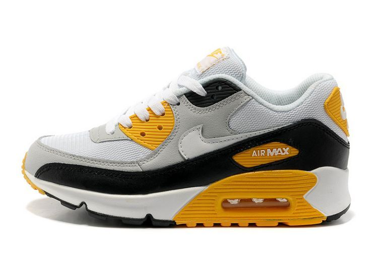 check out 73740 a5447 Prix D usine Nike Air Max 90 Essential Gris Blanc Noir Maize Homme
