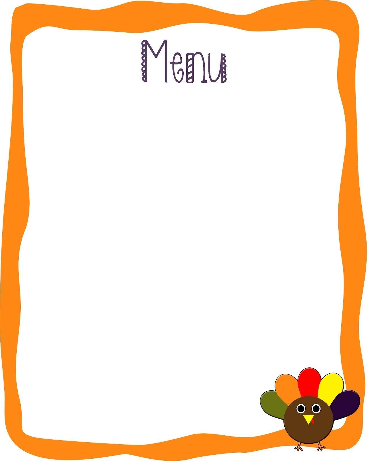 Blank Menu Template Blank Menu Template For Kids World Of Printable And Chart Photo Blank Menu Template Restaurant Menu Template Menu Planner Printable Free