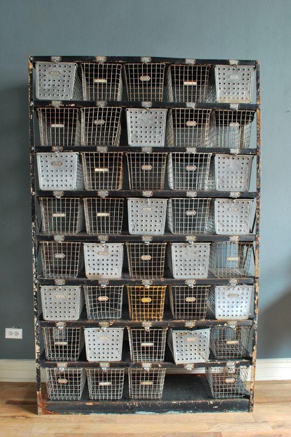 Locker Baskets | Bookcases and Storage | Pinterest | Metall, Draht ...