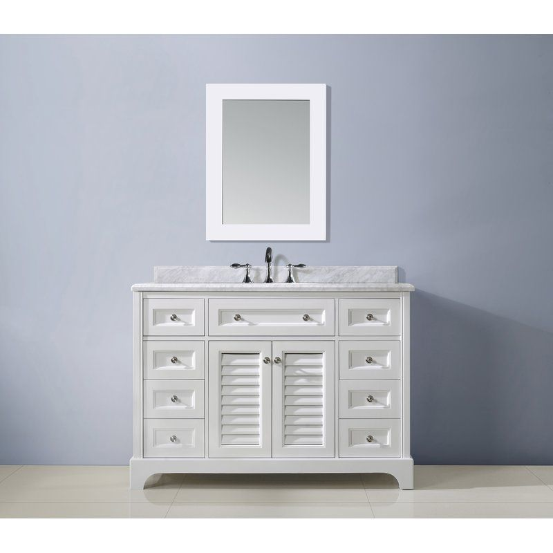 "Ari Kitchen & Bath Madison 48"" Single Bathroom Vanity Set Endearing Bathroom Cabinet Reviews Decorating Inspiration"
