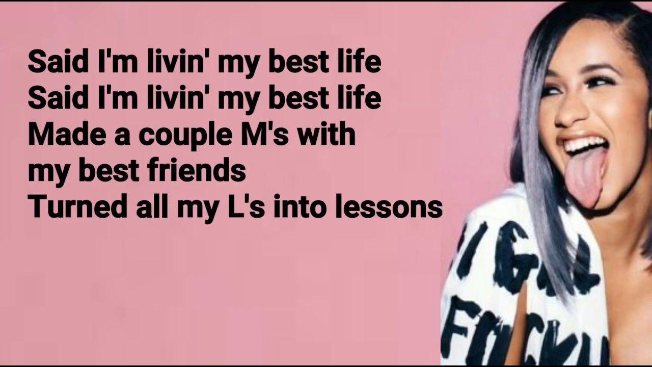 Cardi B Clean: Best Life Feat. Chance The Rapper (Lyrics