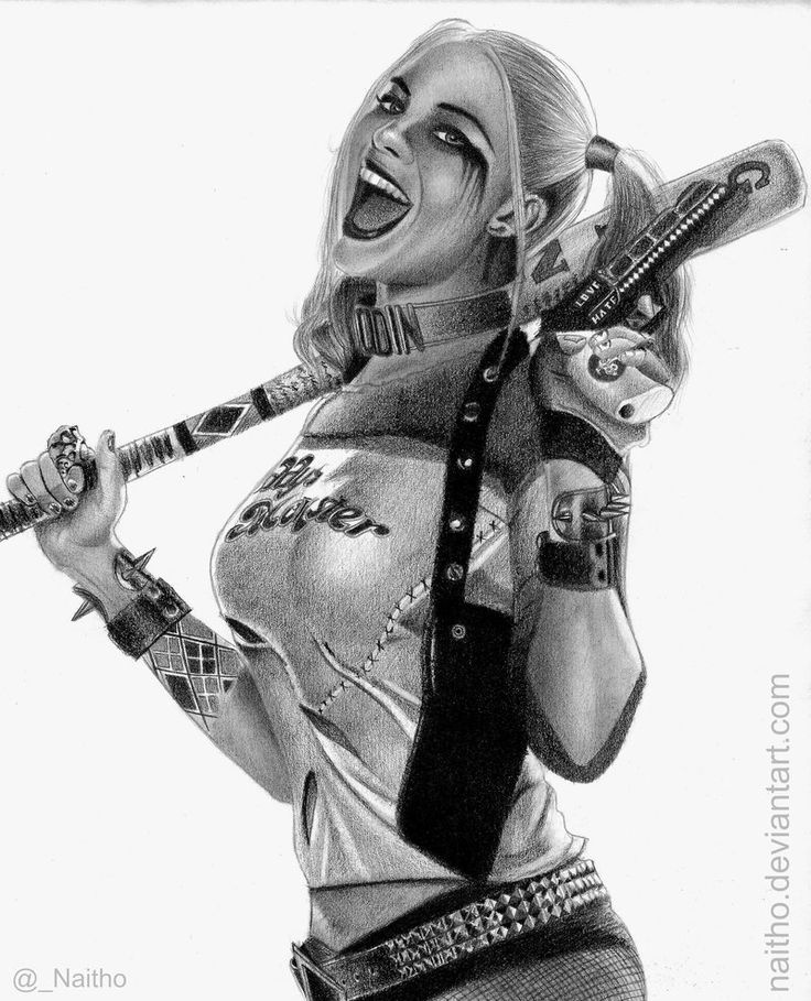 Black And White Google: HARLEY QUINN SUICIDE SQUAD COMIC BLACK AND WHITE