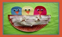 PRESCHOOL SPRING CRAFTS: Spring Bird Nest Craft and Spring Song for Kids!