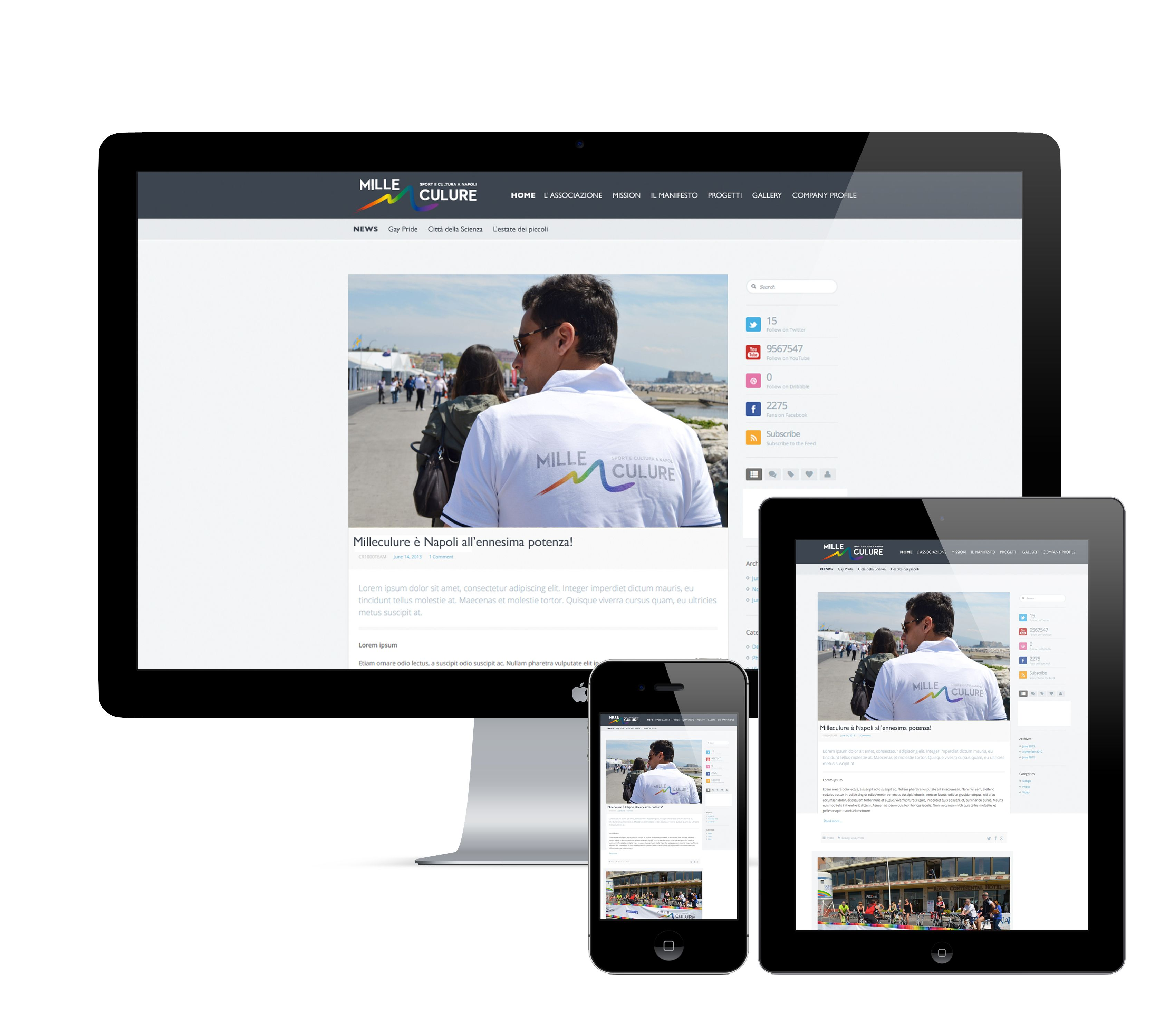 MILLECULURE | Proposta layout sito web