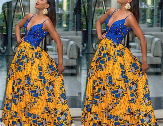 Africano de Soraya imprimir mix vestido por CoCoCremeCouturier ...