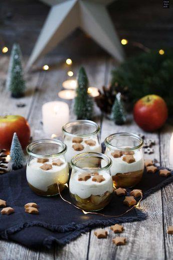 weihnachtliches bratapfel zimtcreme dessert im glas leckereien dessert weihnachten. Black Bedroom Furniture Sets. Home Design Ideas