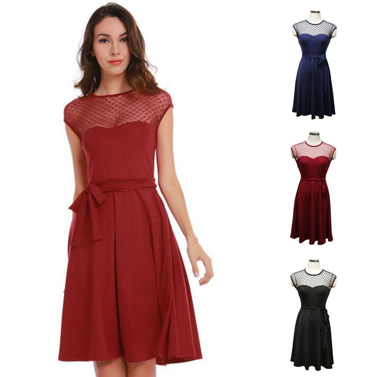 Charm vogue women mesh perspective short sleeve cocktail short skirt