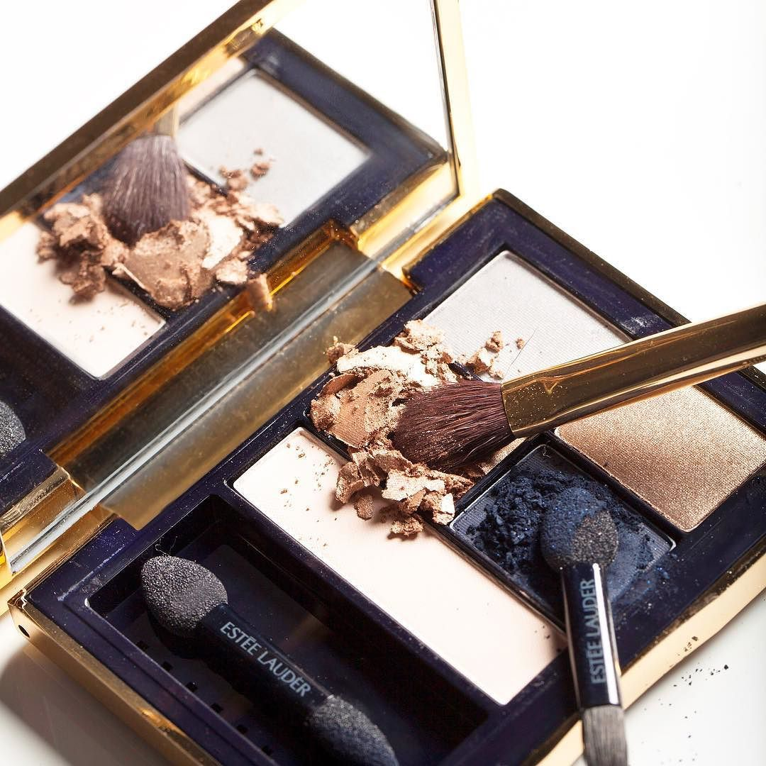 Fall beauty trend #3: Brush Stroke Eyes. Contrast a vibrant swoop of color (like the navy shade in our Infamous Sky palette) with a neutral hue on the rest of your eyelid. (Not for the faint of heart.) by esteelauder