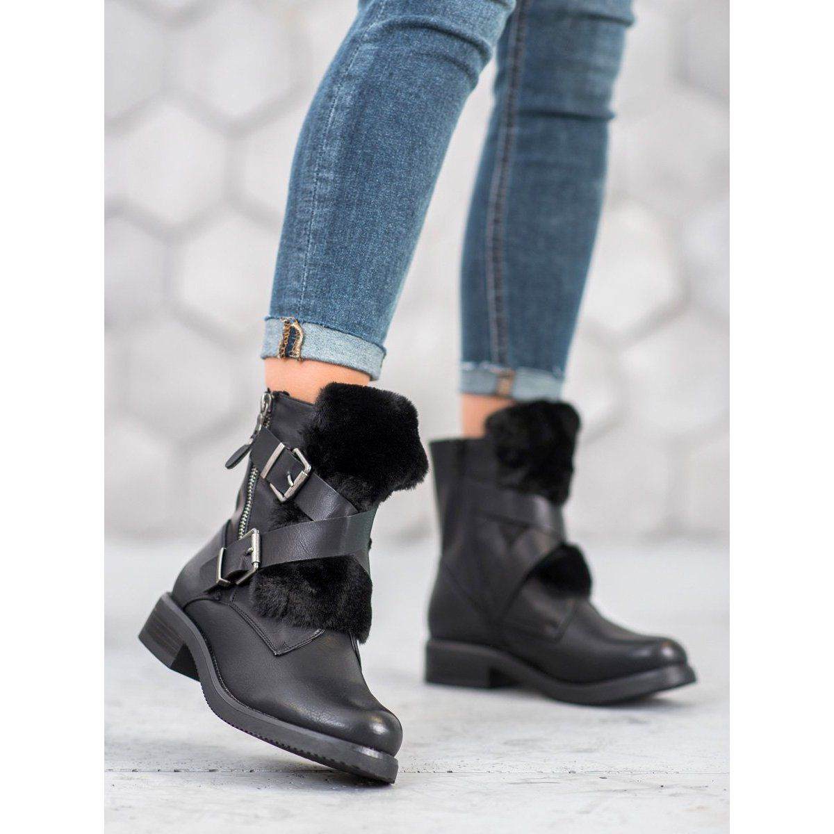 Boots Women S Superme Super Me Casual Workers Black Boot Shoes Women Casual Boots