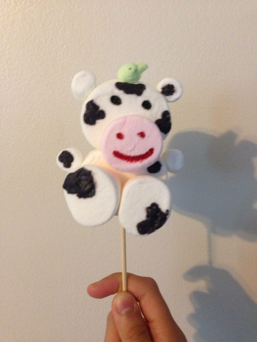 Diy Cow Made Out Of Marshmallow!