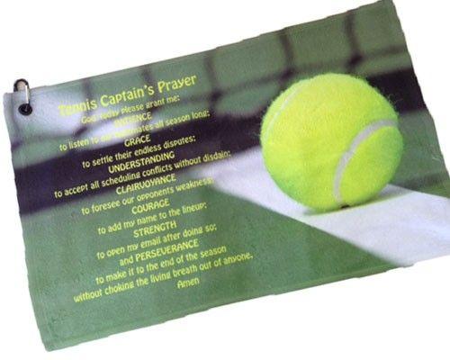 Tennis Captain S Prayer Towel Tennis Tennis Gifts Tennis Party
