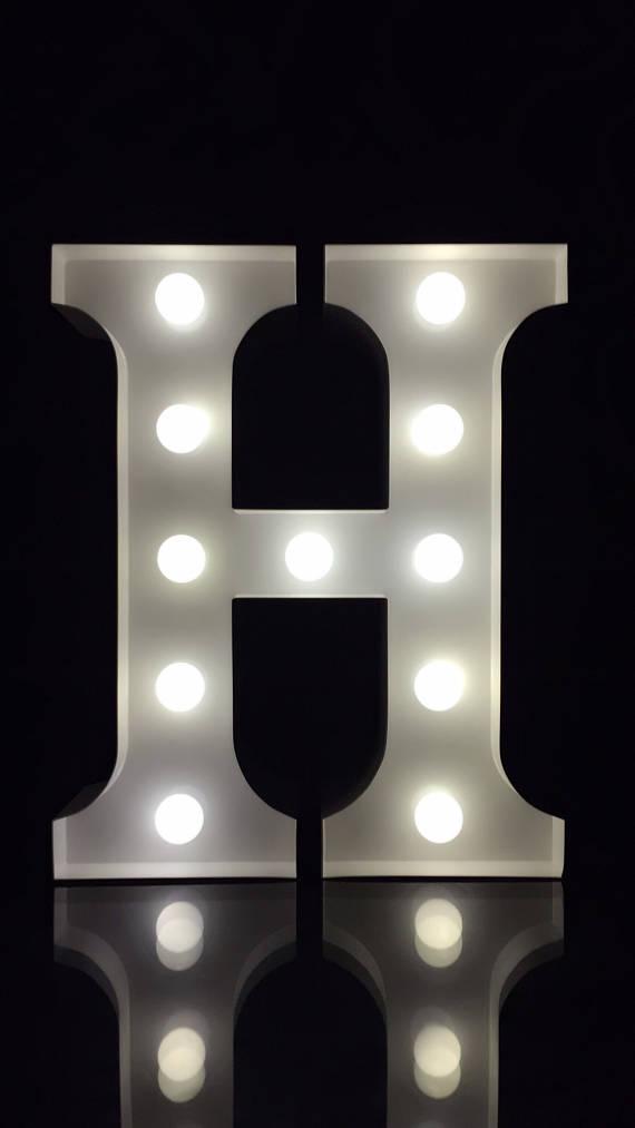 26 Letter Pink Wooden Marquee Letter Alphabet Sign Kids Room Decor Plate V