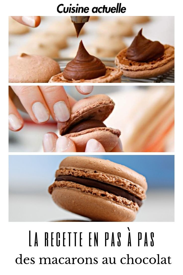La recette en pas à pas des macarons au chocolat #macaronrecette