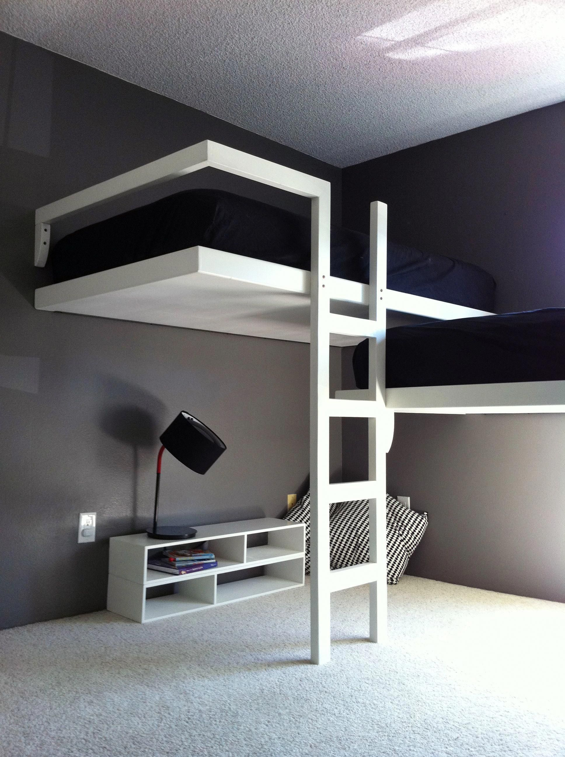 Design Fab Llc Cool Puter Setups And Gaming Loft Bed Setup Custom Bunk Beds Simple Bed For Children Or Cabins Custom Bunk Beds Cool Loft Beds Cool Bunk Beds