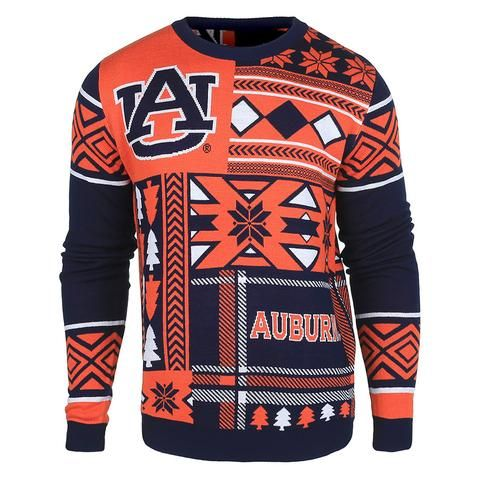 classic fit f53bc 1a081 Auburn Patches Ugly Crew Neck Sweater