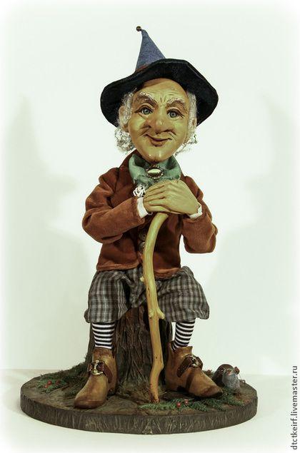 Коллекционные куклы ручной работы. Ярмарка Мастеров - ручная работа. Купить авторская коллекционная  кукла Добрый ГНОМ. Handmade. Коричневый