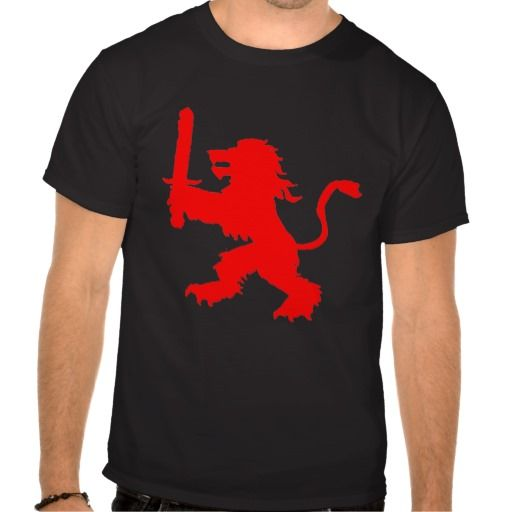 solid red lion shirts