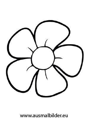 Blumen malvorlage - Ausmalbilder für kinder Malvorlagen