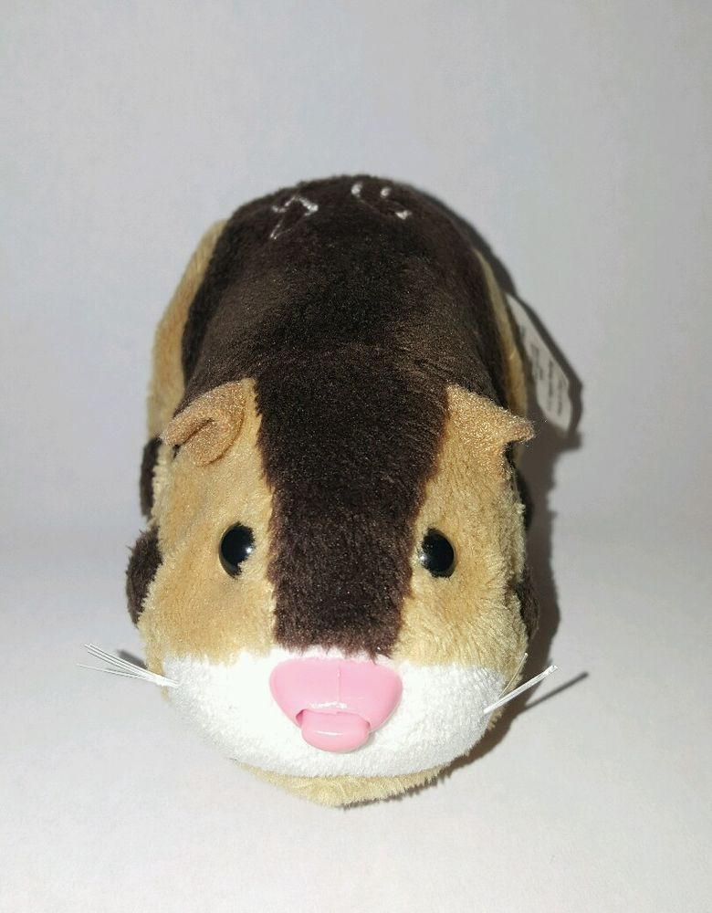 Zhu Zhu Pet Hamster Tex Brown Tan With Name Tag Tested and Working in Toys & Hobbies, Electronic, Battery & Wind-Up, Electronic & Interactive | eBay