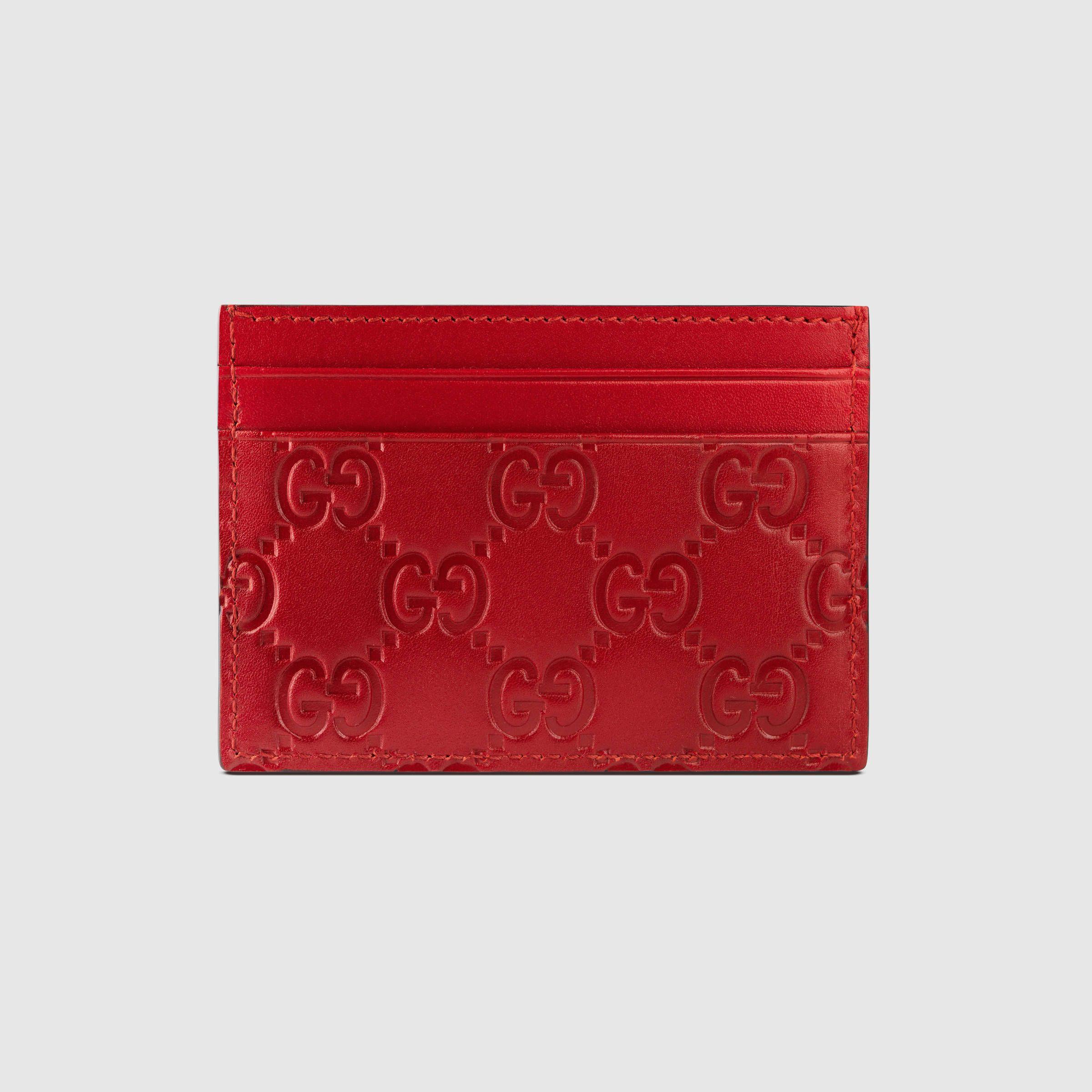 Gucci Men - Gucci Signature leather card case - 233166CWC1N6433 ...
