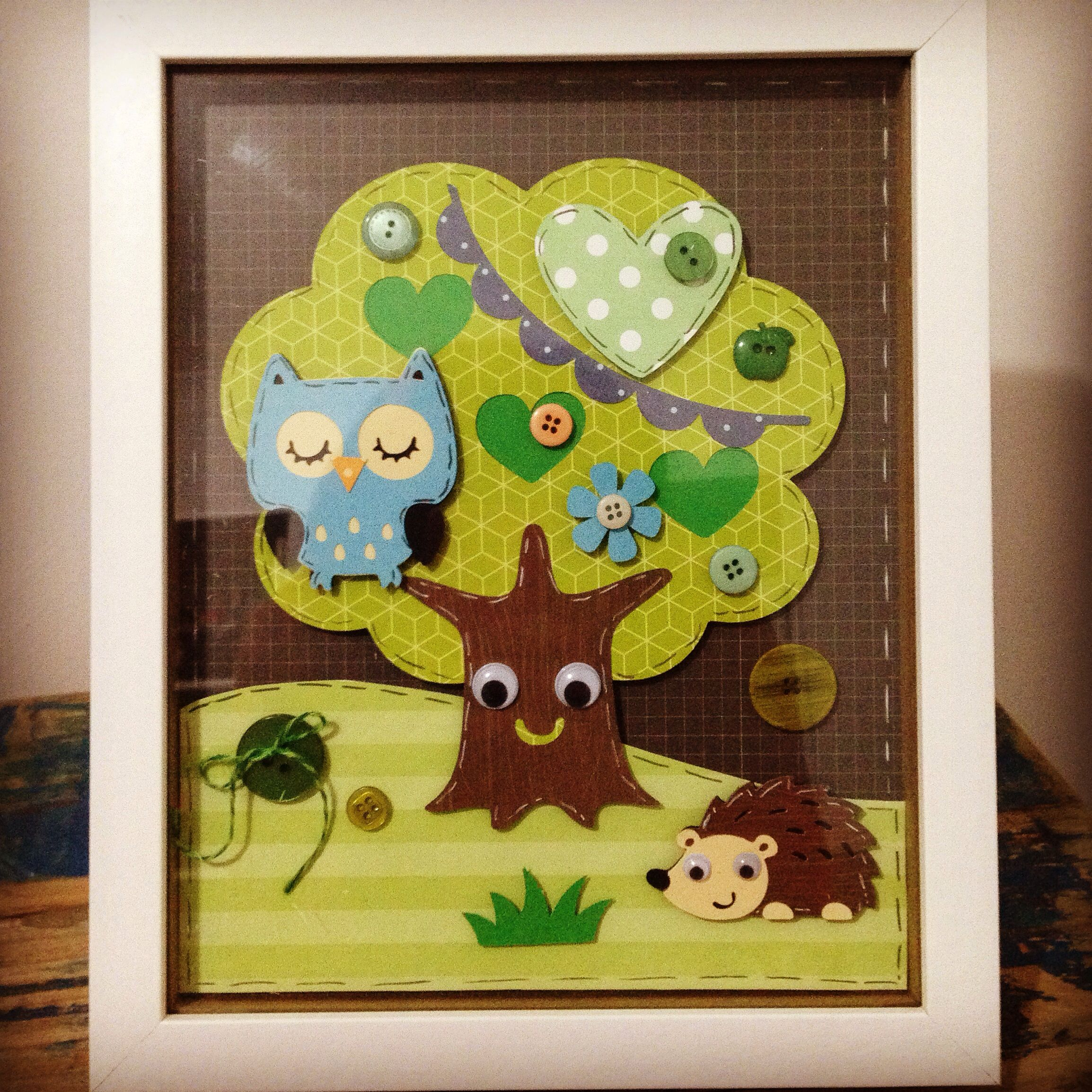 Woodland animals wall art cricut create a critter shadowbox frame ...