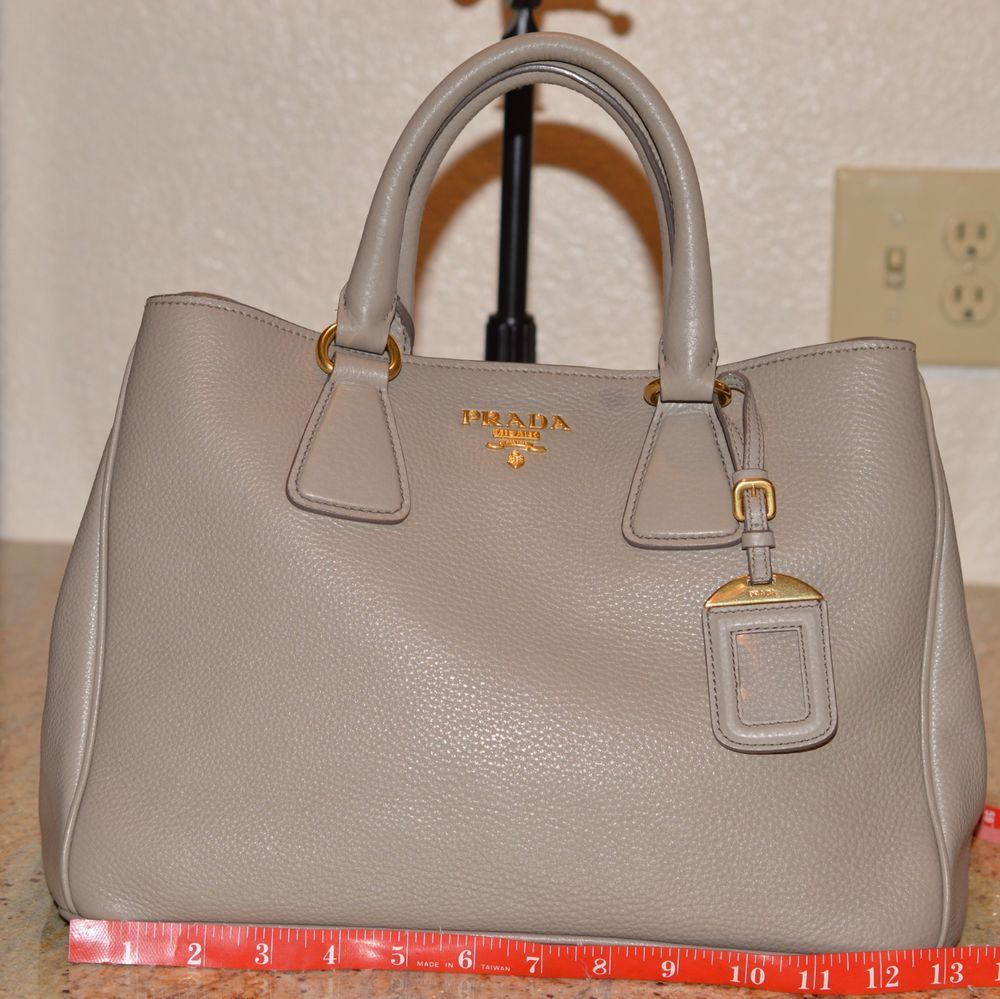 a8e55f8ad70016 PRADA VITELLO DAINO GRAY ARGILLA LEATHER SATCHEL OR CROSSBODY BAG  GOLD…@ebay @pinterest #shoulderbag #shoulder #purse #handbag #leather