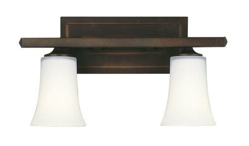 Feiss Bristol 2 Light Vanity Fixture In Oil Rubbed Bronze: Murray Feiss VS8702-ORB Two-Light Boulevard Collection