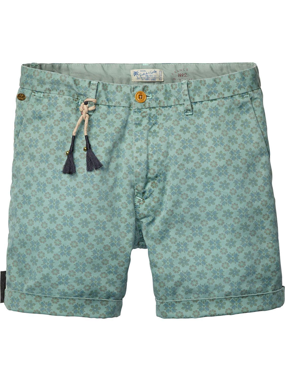 3eb589e0f5 allover printed chino shorts | Short pants | Men Clothing at Scotch & Soda