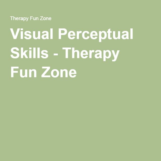 Visual Perceptual Skills Skills Therapy Visual
