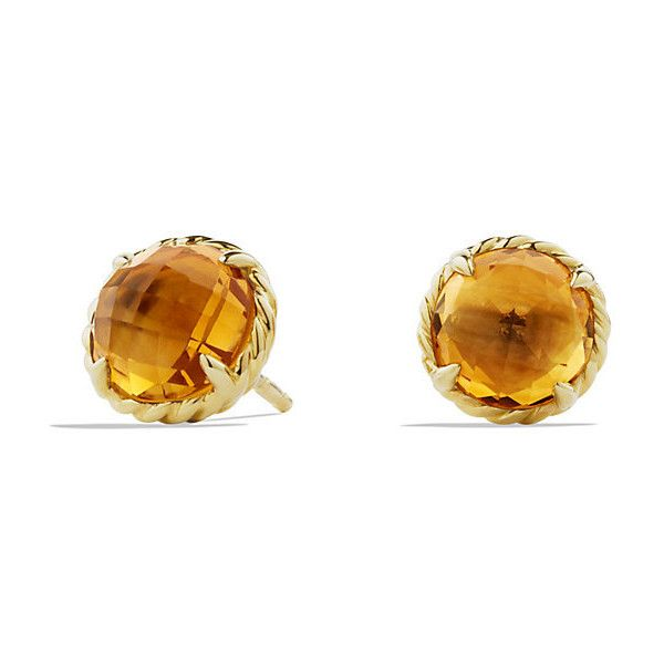 David Yurman Earrings With Citrine In 18k Gold 1 100 Liked On Polyvore Featuring