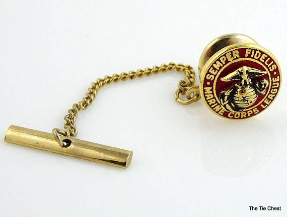 Very nice collectible pin gold tone marine corps league tie tack gold tone marine corps league tie tack thetiechest ccuart Images