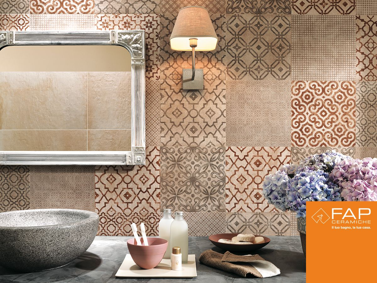 Walls decorated with beauty creta decò for a charming vintage