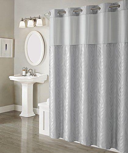 Arcs Angles Hookless Mosaic Jacquard Shower Curtain With Peva
