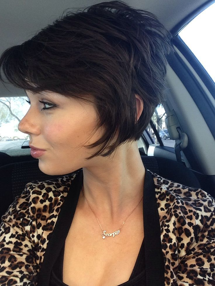 Short Hair Cut Short In Back Long In Front Hair Pinterest