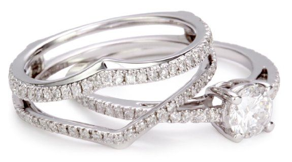 kobelli white gold wedding ring set the only thing wrong with this is white gold i - 3 Piece Wedding Ring Sets