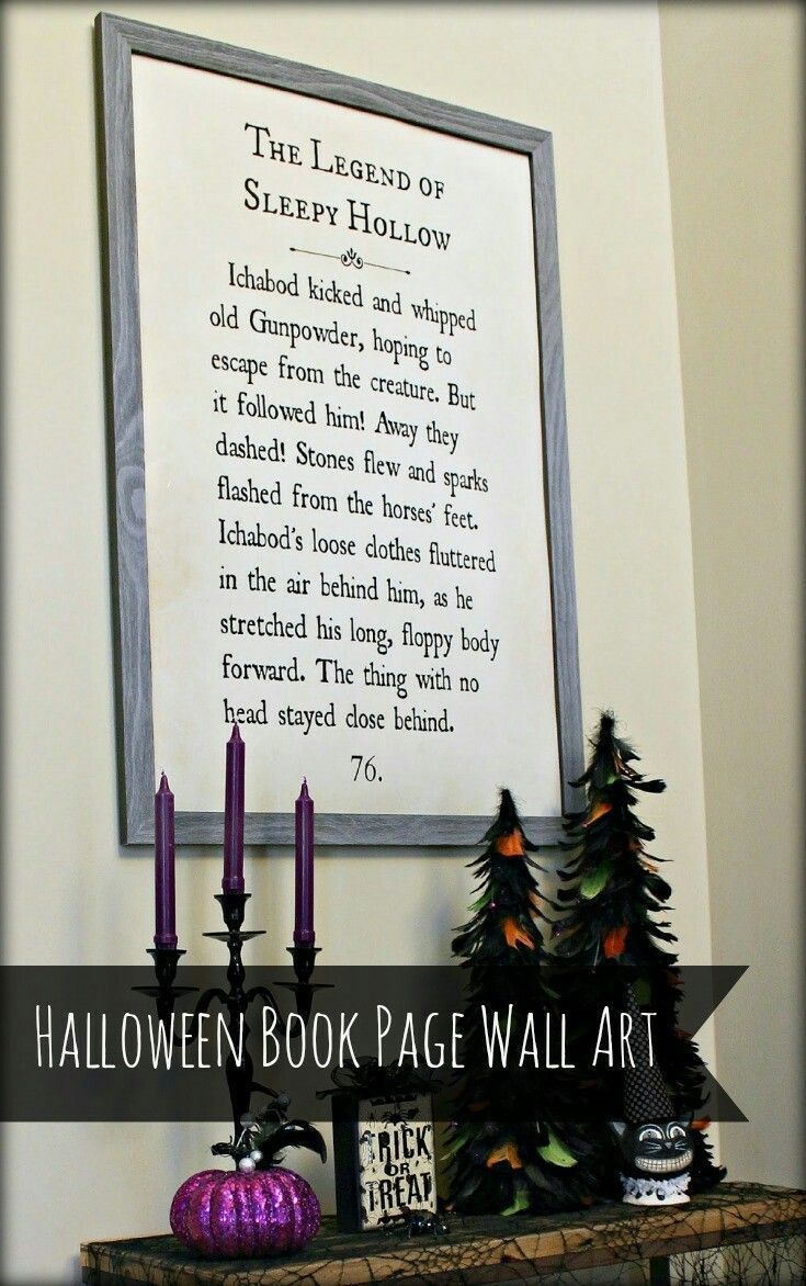 Jumbo book page art Home Decor Pinterest - Diy Indoor Halloween Decorations