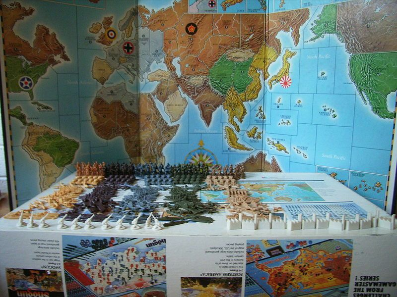 Large Axis and Allies Maps | Axis and Allies has 299 pieces
