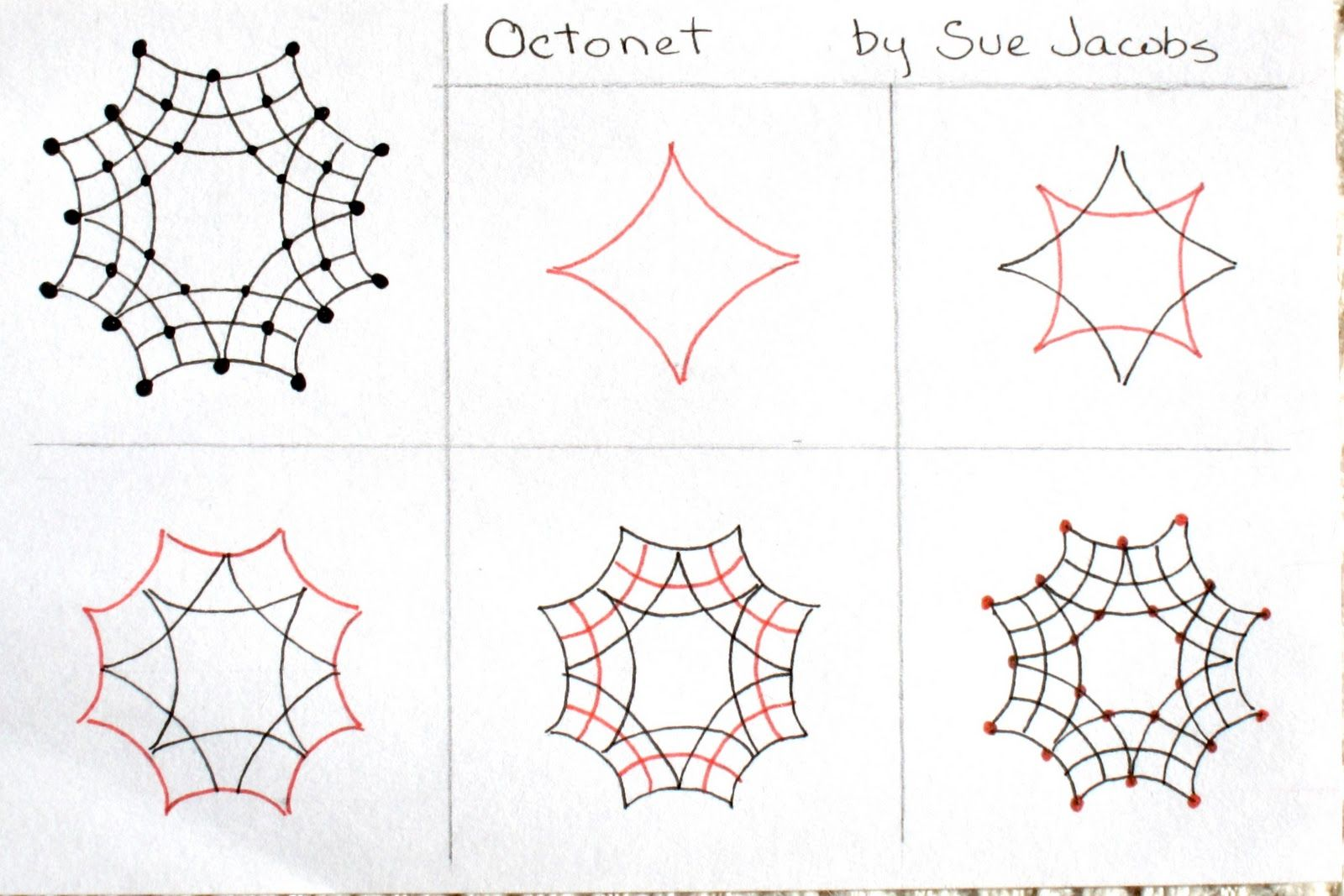 Simple Zentangle Patterns Step By Step Images & Pictures ...