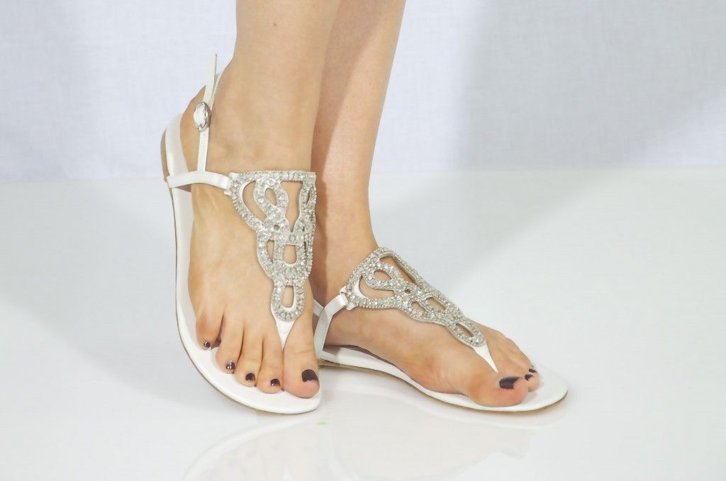 Flat Silver Sandals For Wedding Shoes Ideas