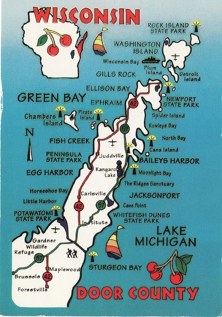 Door County Wisconsin Map Door County Highlights in 2019 | incomplete passes | Door county