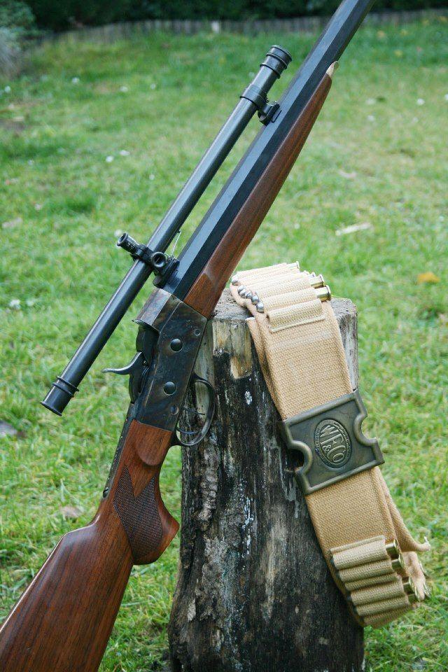 Pedersoli Rolling Block with original Winchester scope