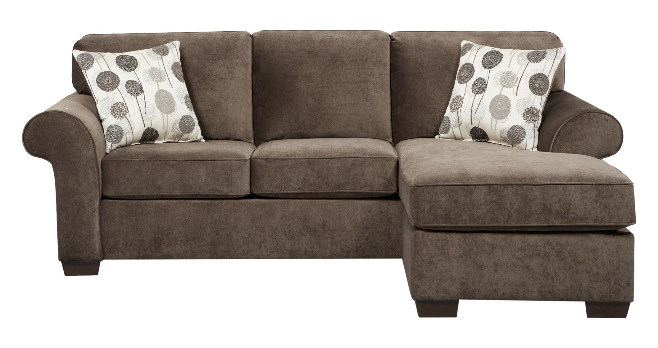 Roundhill Furniture Fabric Sectional Sofa With 2 Pillows Elizabeth Ash Dimension 92 X 67 38h High Quality Wood Frame