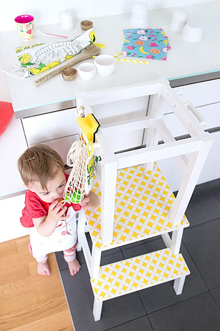 lernturm selber bauen ikea hack aus zwei hockern mit einfacher anleitung diys f r kids. Black Bedroom Furniture Sets. Home Design Ideas
