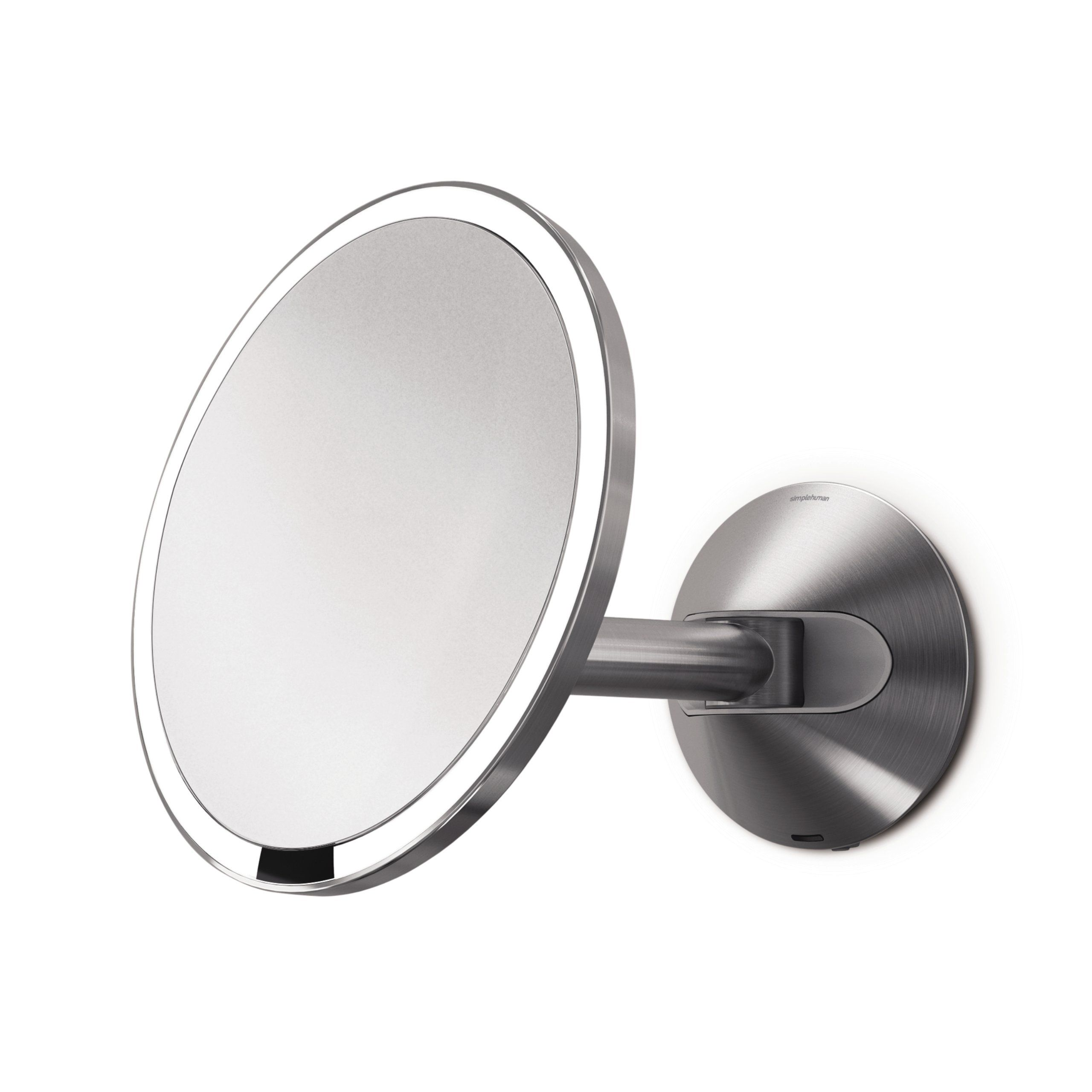 Simplehuman Magnification Stainless Rechargeable Cordless In 2020 Wall Mounted Mirror Wall Mounted Light Simplehuman