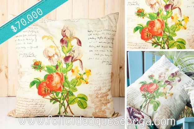 """Cojín """"Rosas"""" de nuestra nueva colección"""