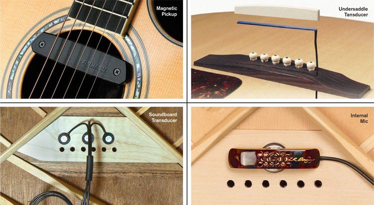 Get Heard A Guide To Acoustic Guitar Pickups And Amplification Acoustic Guitar Pickups Guitar Pickups Acoustic