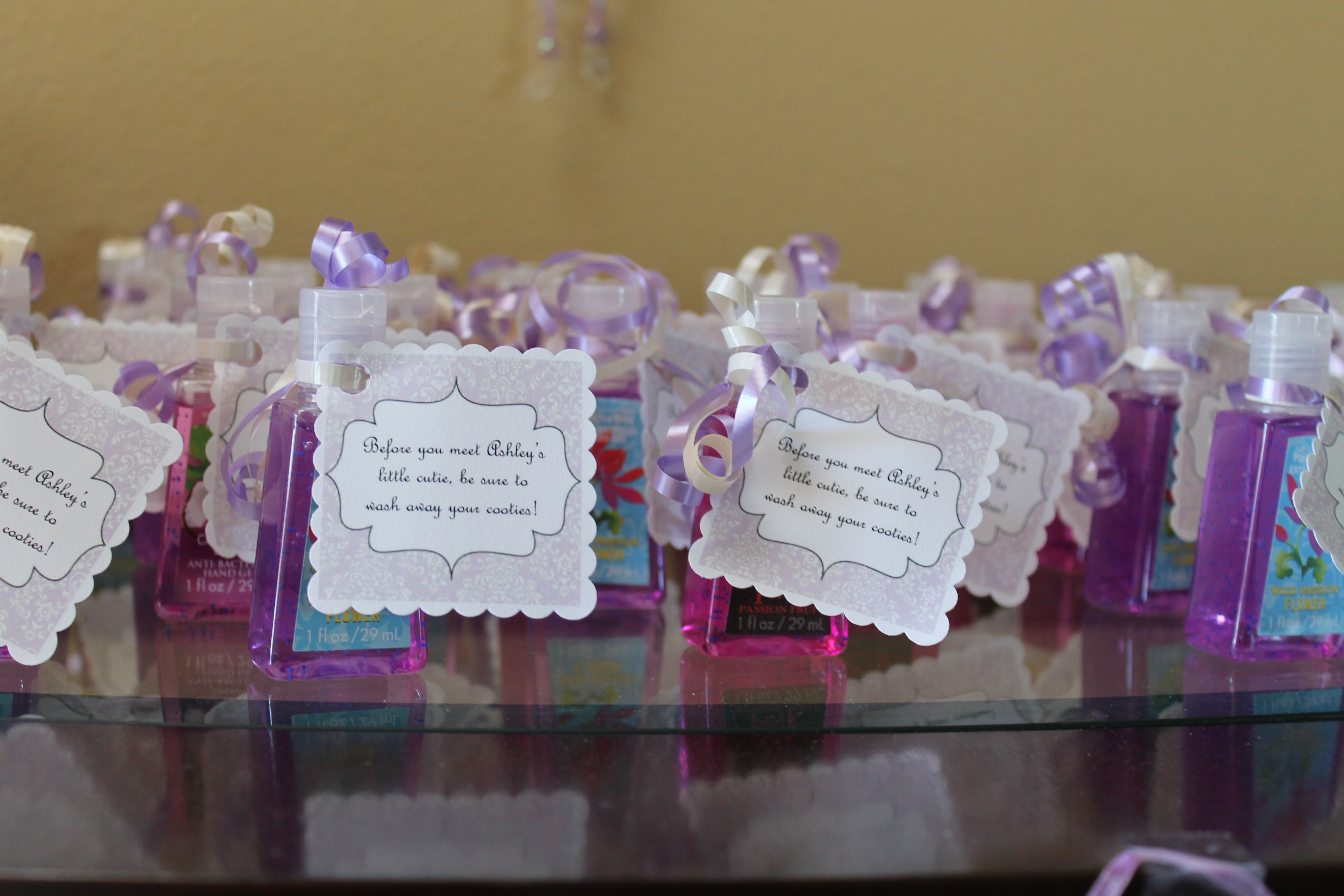 Baby Shower Favors Hand Sanitizer Tag Says Before You Meet