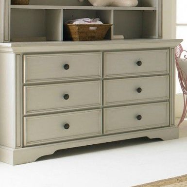 Bonavita Sawyer Double Dresser In Linen Gray Furniture Brands Changing Tablesdouble