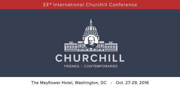 Email header design for the International Churchill Conference.