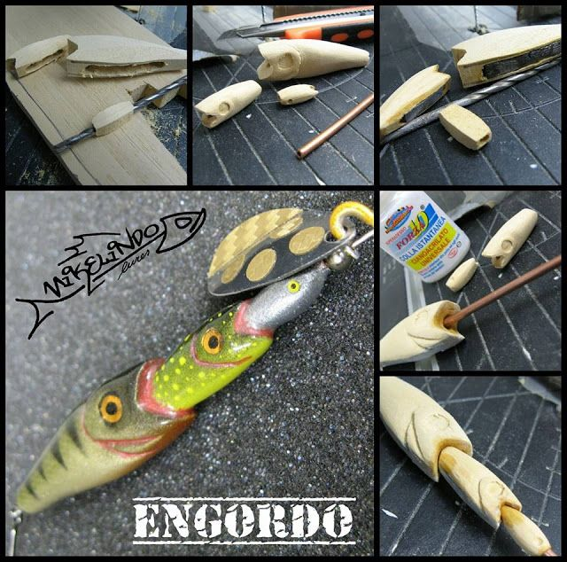 Homemade fishing lure blog mikelindo lures a well framed for Homemade fish bait